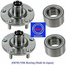 Front Wheel Hub &(OEM) NSK Bearing Kit fit Nissan Altima (2.5L) 2002-2006 (PAIR)