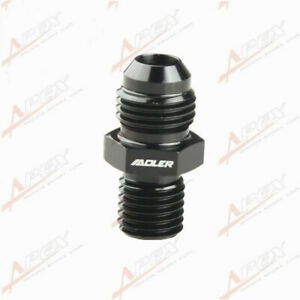 mm Metric Straight Flare Male Fitting Adapter Black 6AN AN-6 To M16 x 1.5