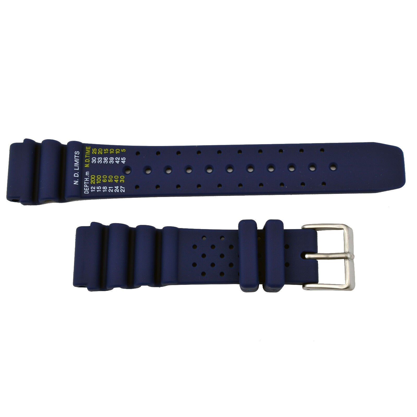 4cc610f7873 Citizen Nd Limits Bn0156-56e 20mm Blue Rubber Watch Band Strap for ...