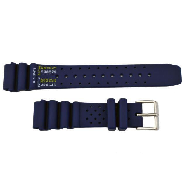 7e895d6074e Blue Citizen ND Limits BN0151-09L 20mm Rubber Watch Band BN0151-17L BN0150-