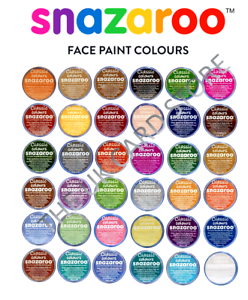 18ml-SNAZAROO-FACE-PAINTS-Stage-Make-Up-57-COLOURS-Classic-Theatre-Fancy-Dress
