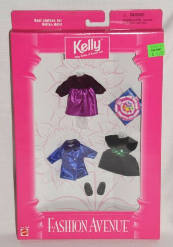 Barbie Kelly Fashion Avenue Fancy Party Dresses 1998  # 16696 New