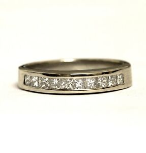 Image Is Loading 18k White Gold 60ct Vs G Princess Channel