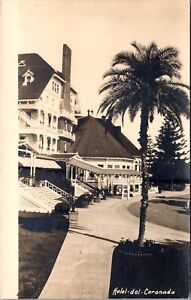 Real Photo Postcard Entrance to Hotel Del Coronado San Diego California~138044