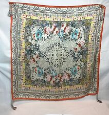 Johnny Was Signature Tribute Silk Scarf Tassels New JWC1179