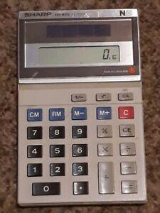 [COL] Vintage Sharp Calculator EL-335S ELSI MATE N8 Solar