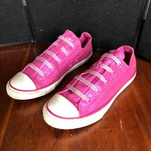 c5ce7f237088 Converse All star girls shoes size 4 pink glitter good condition ...