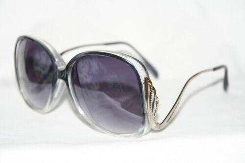 Boho Sonnenbrille Oversize Sunglasses schwarz clear Fächer Damen 70er Jahre 151