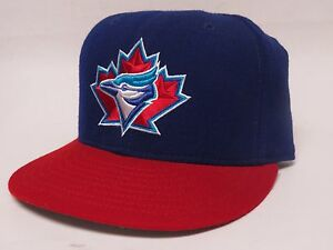 3c96d21cabd Details about New Era TORONTO BLUEJAYS Size 7 Fitted 59FIFTY Flat Bill MLB  Cap Hat - Blue Red