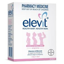 Elevit With Iodine Pregnancy Vitamins & Minerals 100 Tablets Healthy Stages