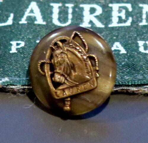 "RALPH LAUREN Gray Brown Tortoise Shell Blazer Bronze Horse Button 5//8/"" SLEEVE"