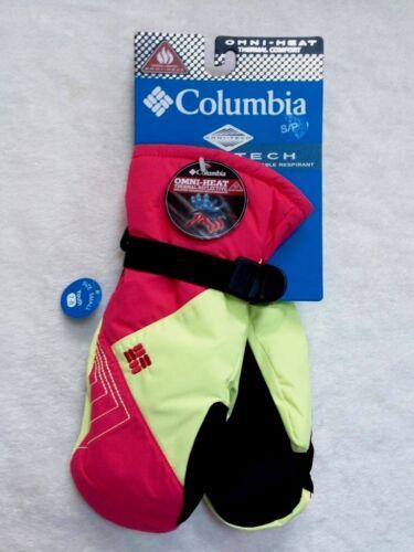 """COLUMBIA Girls Mittens Omni-Heat Omni-Tech Waterproof /""""Snow Raid/"""" ~XS~S~M~L NEW"""