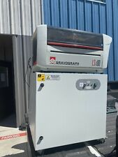 Gravograph Ls100 Laser Engraving Machine With Purex Xbase Fume Extraction System