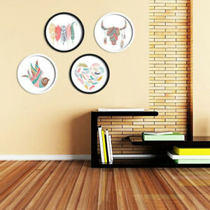 Newly-Modern-Round-Photo-Frame-Wooden-Hanging-Picture-Holder-Bedroom-Decoration