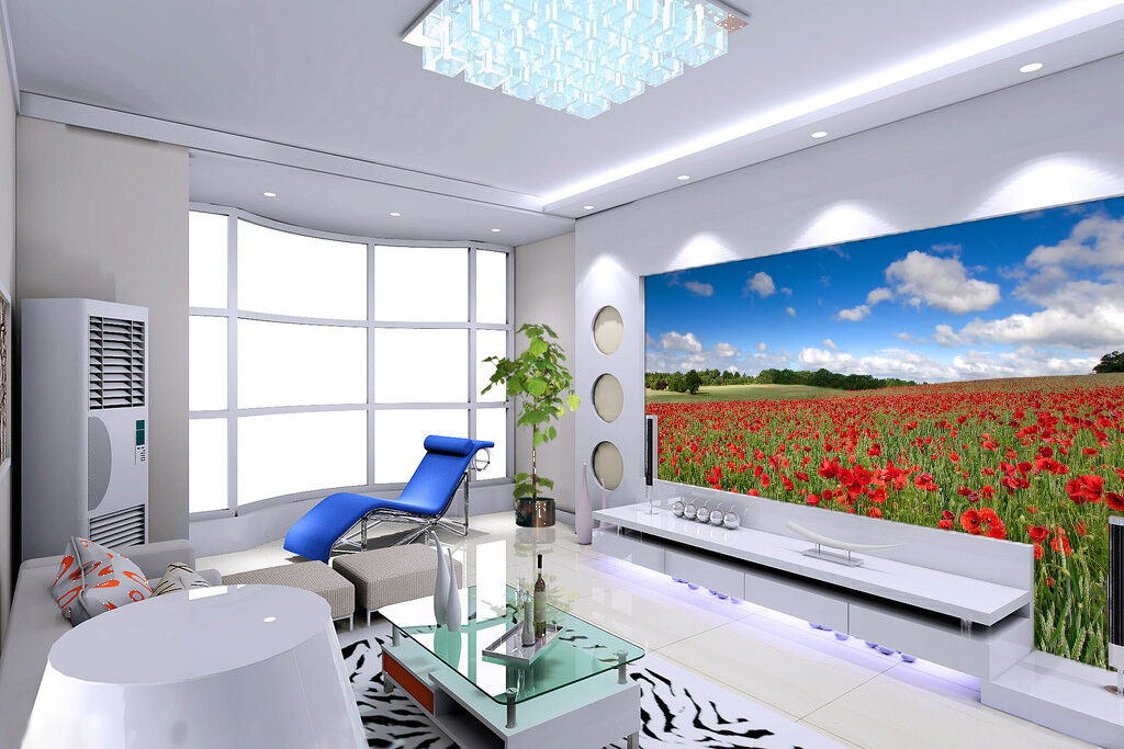 3D Sky safflower 3423 Wall Paper Wall Print Decal Wall Deco Indoor Wall Murals