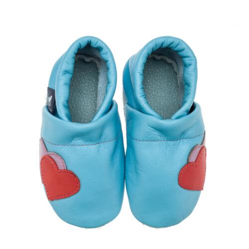 mit Herzen Pantau Leder Krabbelschuhe Lederpuschen Lauflernschuhe Babyschuhe