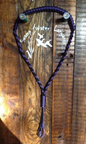 Deer Duck Hand made Turkey Predator Call Paracord Lanyard purple//black