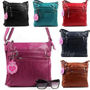 NEW-Multi-Pocket-Faux-Soft-Leather-CrossBody-Bag-Satchel-Messenger-Shoulder-Bag