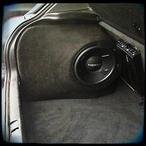 Audi a3 mk1 8l Sound upgrade speaker sub box 12 10 stealth ...