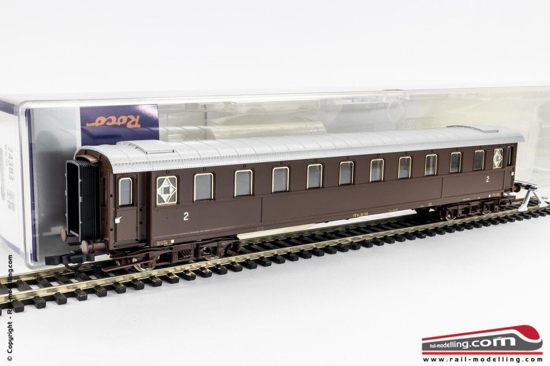 ROCO 74383 - H0 1:87 - Carrozza passeggeri FS serie Bz 30705  2 cl. Castano Ep.