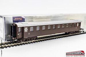 ROCO-74383-H0-1-87-Carrozza-passeggeri-FS-serie-Bz-30705-2-cl-Castano-Ep
