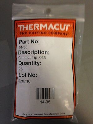 ITEM 301-Thermacut 14-35 Contact Tips 10 Pack for #2-#4 MIG Guns .035//0.9MM