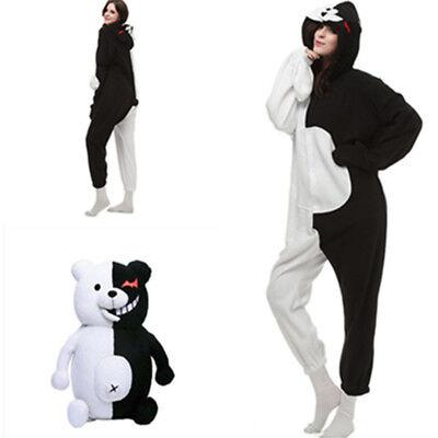 New Danganronpa Monokuma Cosplay Adult Unisex One-piece Kigurumi Jumpsuit Pajama