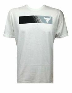 New Under Armour UA Men/'s medium M x Project Rock Brahma Bull T-Shirt black NWT