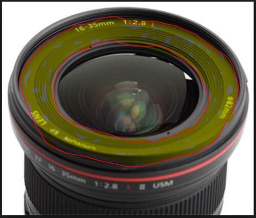 2.8, Mark 2 Nombre de la parte delantera Anillo Parts-Canon EF 16-35 mm F//2.8 L USM II Lente