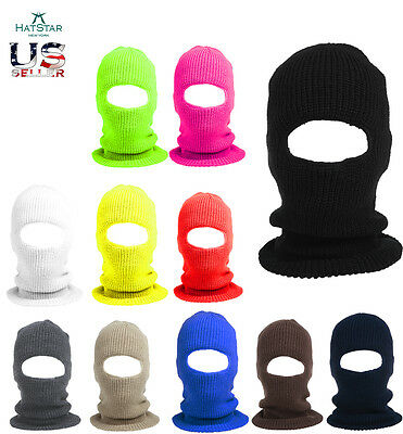 Ski Mask Full Face Visor Winter Beanie Hat Cap Mens Women Balaclava