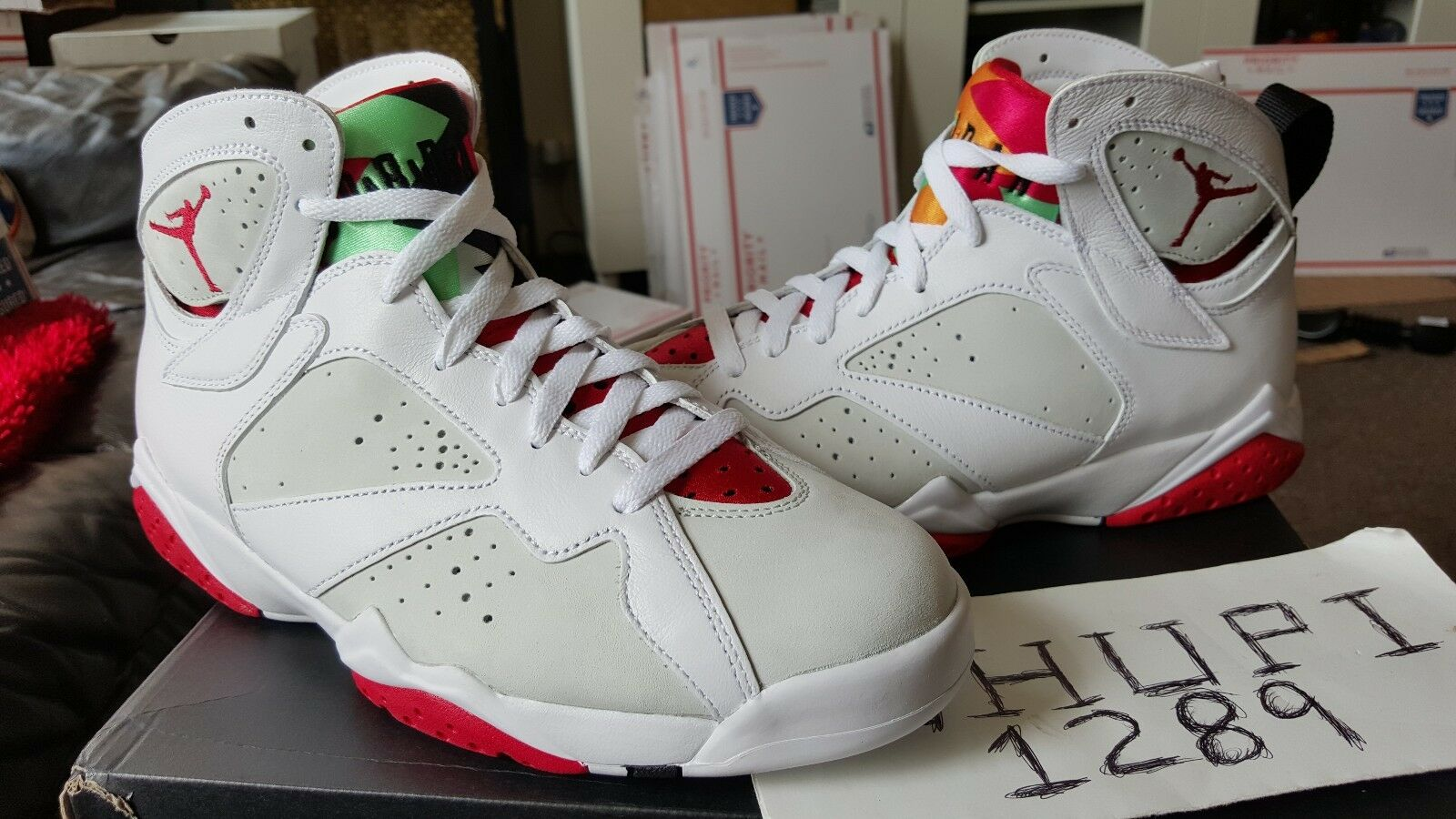 nike air jordan retro - vii wahre 7 hase wb weiße wahre vii red bugs - bunny - silber 304775-125 6a6729