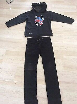 Acquista A Buon Mercato Spiderman: Joli Pull Sweat-shirt GarÇon Taille 8 Ans + Pantalon