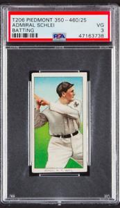 1909-T206-Admiral-Schlei-New-York-Piedmont-Cigarettes-Baseball-Card-350-PSA-VG3