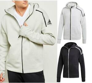 New-adidas-ZNE-Hooded-Top-Sz-2XL-Black-Grey-Training-Hoodie-Sweatshirt-jacket