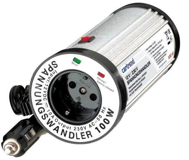 Cartrend 7740100 Steckdosen Spannungswandler 100W 12V / 230V Mobile Steckdose