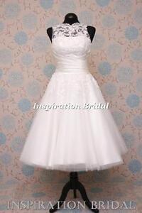 UK-New-1555-short-50s-60s-wedding-dresses-tea-length-knee-lace-8706-Sabrina-neck