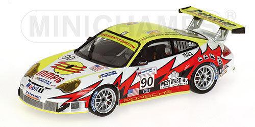 PORSCHE 911 GT3 RSR bianca LIGHTNING RACING LE MANS 24 ore 2005  90