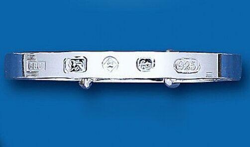 Bracciale in argentoo argentoo argentoo Solido Bambino Hallmark design per battesimo 420257