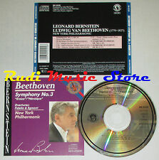 CD BEETHOVEN symphony no 3 eroica fidelio & egmont BERNSTEIN lp mc dvd vhs