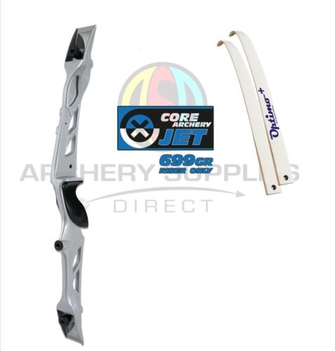 "Rhd 66/"" Silver Core Archery Jet Recurve Bow Set"