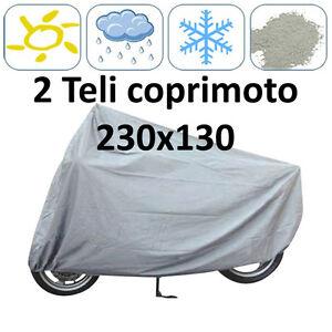 2x-TELI-COPRIMOTO-SCOOTER-MEDIO-PICCOLI-IMPERMEABILE-MOTO-UNIVERSALE-230X130cm