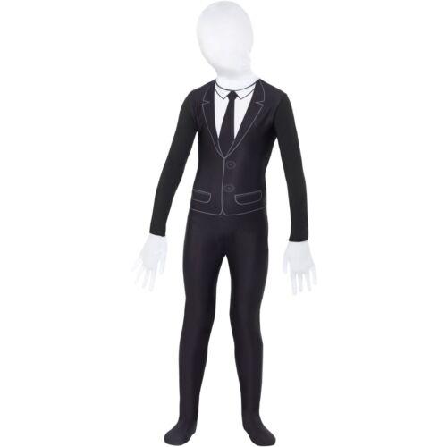 Supernatural Boy Bodysuit Slender Man 2nd Skin Childs Kids Fancy Dress Costume