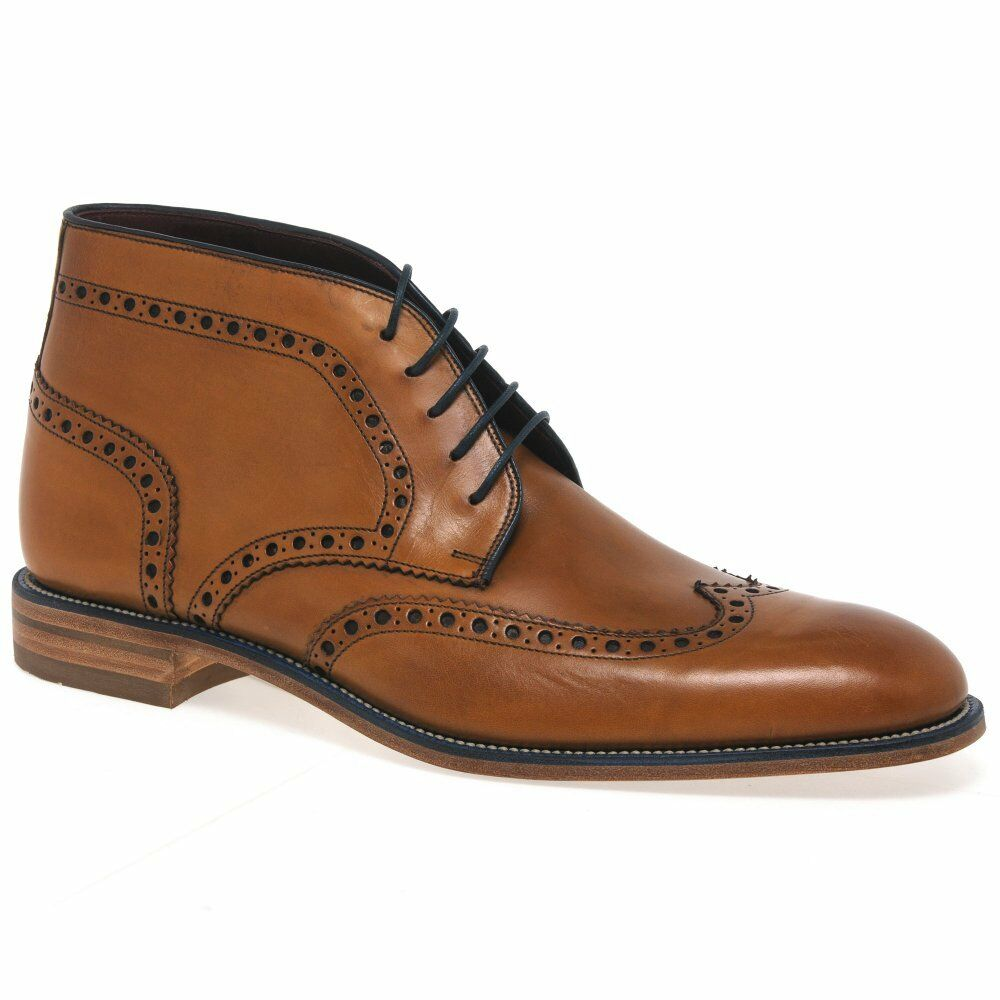 Loake Errington Mens Leather Brogue Boots