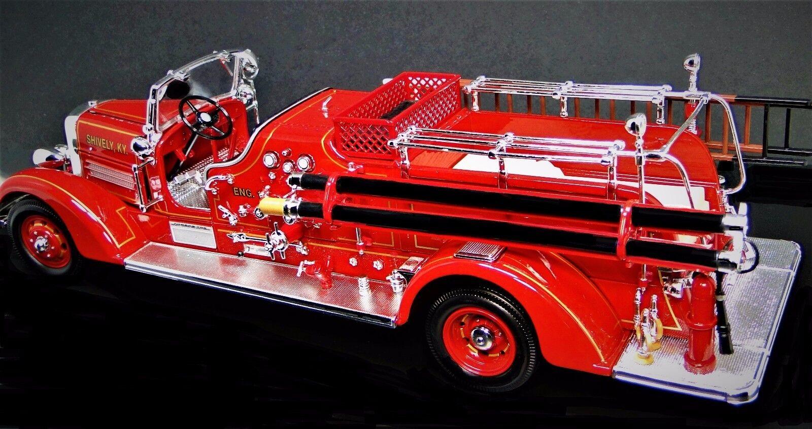 1930s Camión De Bomberos Vintage Antiguo un motor de 24 Modelo de Metal T 1 Raro Pickup coche 18