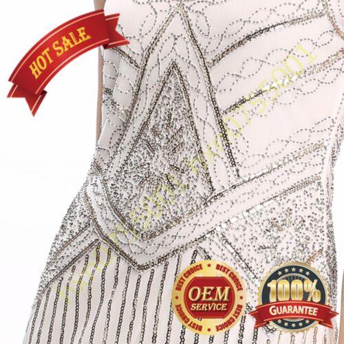 Women Tassel Vintage 1920s Gatsby Charleston Sequin Flapper Fringe Party Dress
