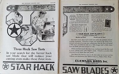Flight Tracker 1920 Clemson Bros Inc Middletown Ny Star Hack Saw Blades Tool Two Page Ad High Quality Goods Collectibles