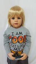 "NWT Exclusive Masterpiece Doll Julian Blonde / Blue Eyes Monika Peter-Leicht 32"""