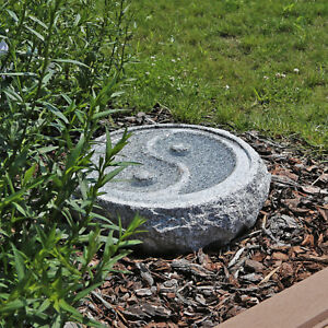 Das Bild Wird Geladen Granit Stein Vogeltraenke Garten Vogelbad Yin Yang Wasserschale