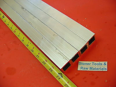 """4 Pieces 1/""""x 1/""""x 1//16/"""" Wall x 24/"""" Long ALUMINUM SQUARE TUBE 6063 T52 1/""""OD 7//8/""""ID"""