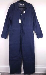 VTG-NEW-Madewell-Coveralls-Jumpsuit-Rigid-Blue-Indigo-Jeans-42R-Sanforized-USA
